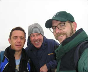 Mike, Neil and Gareth on top of Pen y Gadair, tired but awestruck by the beauty (Gareth Bartley)