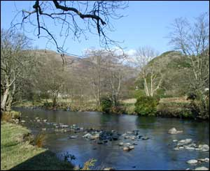 This is a photo of the river at Beddgelert, as captured by David Perrin, who lives in Liverpool