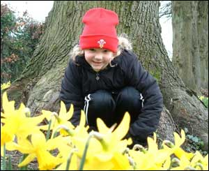 Harriet, aged five, at Llandaff Fields in Cardiff, sent by Karen Evans.