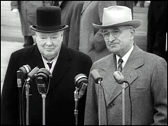 Winston Churchill and Harry S Truman