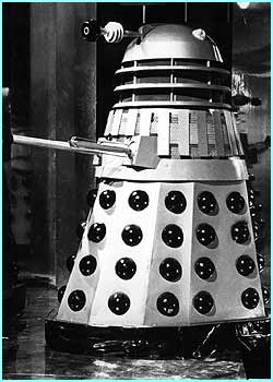 The Daleks from Dr Who are one of the most recognised robots from the screen.