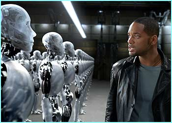 In I, Robot Will Smith finds out what happens when the robots fight back.