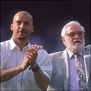 Ken Bates and Gianluca Vialli