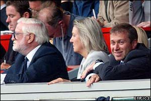 Ken Bates and Roman Abramovich