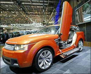 Land Rover's new concept car Range Stormer