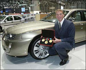 Rover V8 with Olympic rowing champion Matthew Pinsent