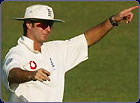 Michael Vaughan points out the field he wants