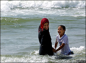 Main beach at Gaza. Photographer Chryssa Panoussiadou