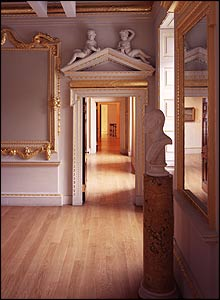 John Madejski Fine Rooms: Enfilade from the saloon though to the keepers' stairs.