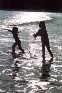 Ceri Pridding took this picture of daughters Naomi and Hannah at Bracelet Bay, Mumbles.