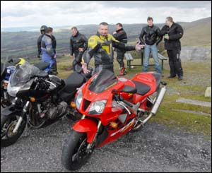 Leon Harding sent in this shot of a trip over the Black Mountains