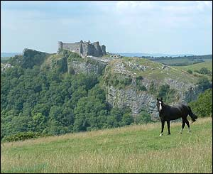 Chris Jones captured this shot of Carreg Cennen castle in Carmarthenshire