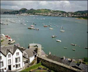 This view across the water to Deganwy from Conwy Castle was captured by Pauline Roberts, from California