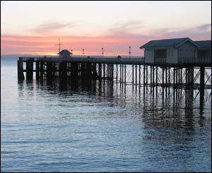Penarth pier at sunrise, as captured by Jonathan Evans