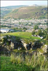 Jamie Thomas, who now lives in London, took this shot of the Rhondda Valley on a trip home