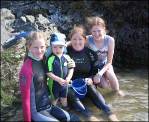 A family day out in Llangrannog, sent by Leanne Brain from Caerphilly