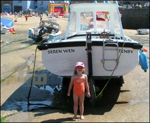Seren Williams finds her namesake all tied up in Tenby Harbour