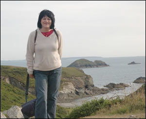 Janet from Brynrefail on a recent weekend break in Solva, sent by her partner Wilf Jones