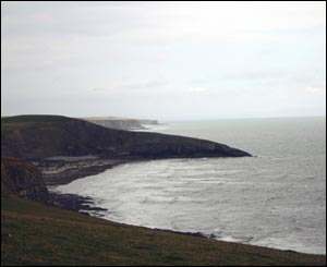 Southerndown near Ogmore by Sea taken by Mal Durbin from Treherbert