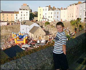 Margaret Thomas took this picture of grandson Ben Millar at Tenby's Summer Spectacular event
