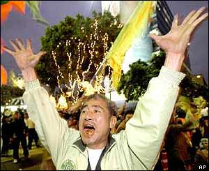 Supporter rejoices at news that the leaders are okay