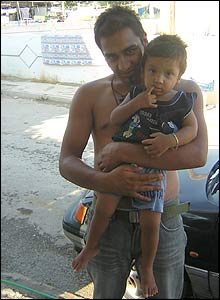 Roma man and child, Athens