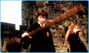 Harry plays quidditch