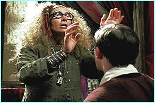 Emma Thompson looks suitably odd as Professor Trelawney in Harry Potter and the Prisoner of Azkaban