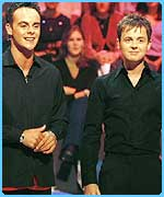 Cheeky duo Ant and Dec