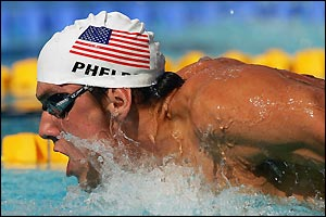 Michael Phelps wins his gold