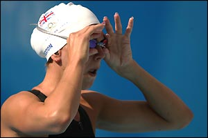 Britain's Katy Sexton only gets as far as the semi-finals in the 100m backstroke