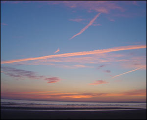 William Fergusson from London took this shot of sunset on Rhossili Bay on the Gower Peninsula