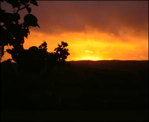 Pictures of a stormy night taken from the garden of Upper Galfog Cottage in Llanigon (Nick, from Brussels)