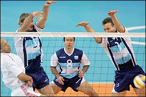Argentina edge a tight match in volleyball's preliminary round