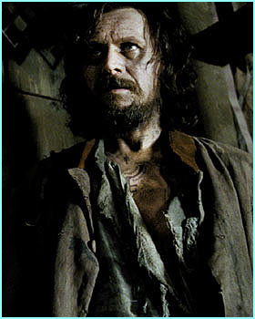 Sirius looks tortured and bedraggled - not surprising after what's he's been through in Azkaban