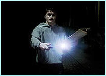 Harry casts a spell - could it be a Lumos?