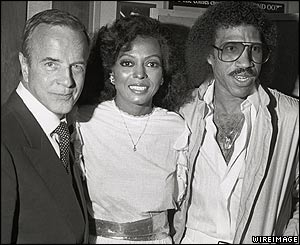 Franco Zeffirelli, Diana Ross and Lionel Ritchie