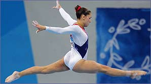 Gymnasts are small, light and flexible