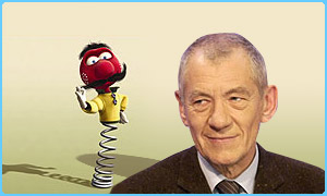 Ian McKellen and Zebedee