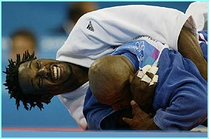 But bad luck for Winston Gordon who gets beaten in the men's 90kg judo semi-final