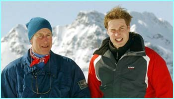 William reckons his dad is the better skier out of the pair of them