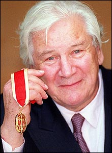 Sir Peter Ustinov after receiving his knighthood