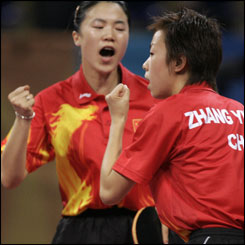 Gold for China in table tennis