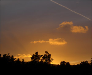 Nigel Edwards took this picture of sunset over Blaenavon looking west towards the Coity mountain