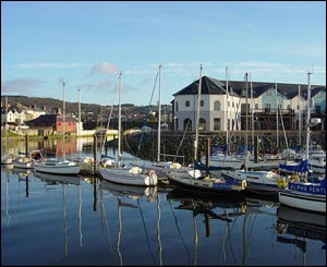 Aberystwyth's Y Lanfa Marina, as sent by Eric Drogin, who lives in the USA