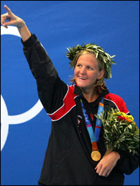 Gold medal for Kirsty Coventry