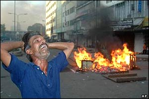 Awami League supporter in grief after the blasts