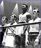 Cassius Clay (second right) won Olympic Gold in 1960
