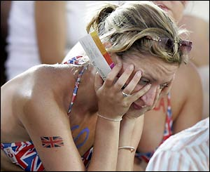 Distraught British fans lament Radcliffe's lack of success