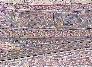 Detail of the Woodchester Pavement replica